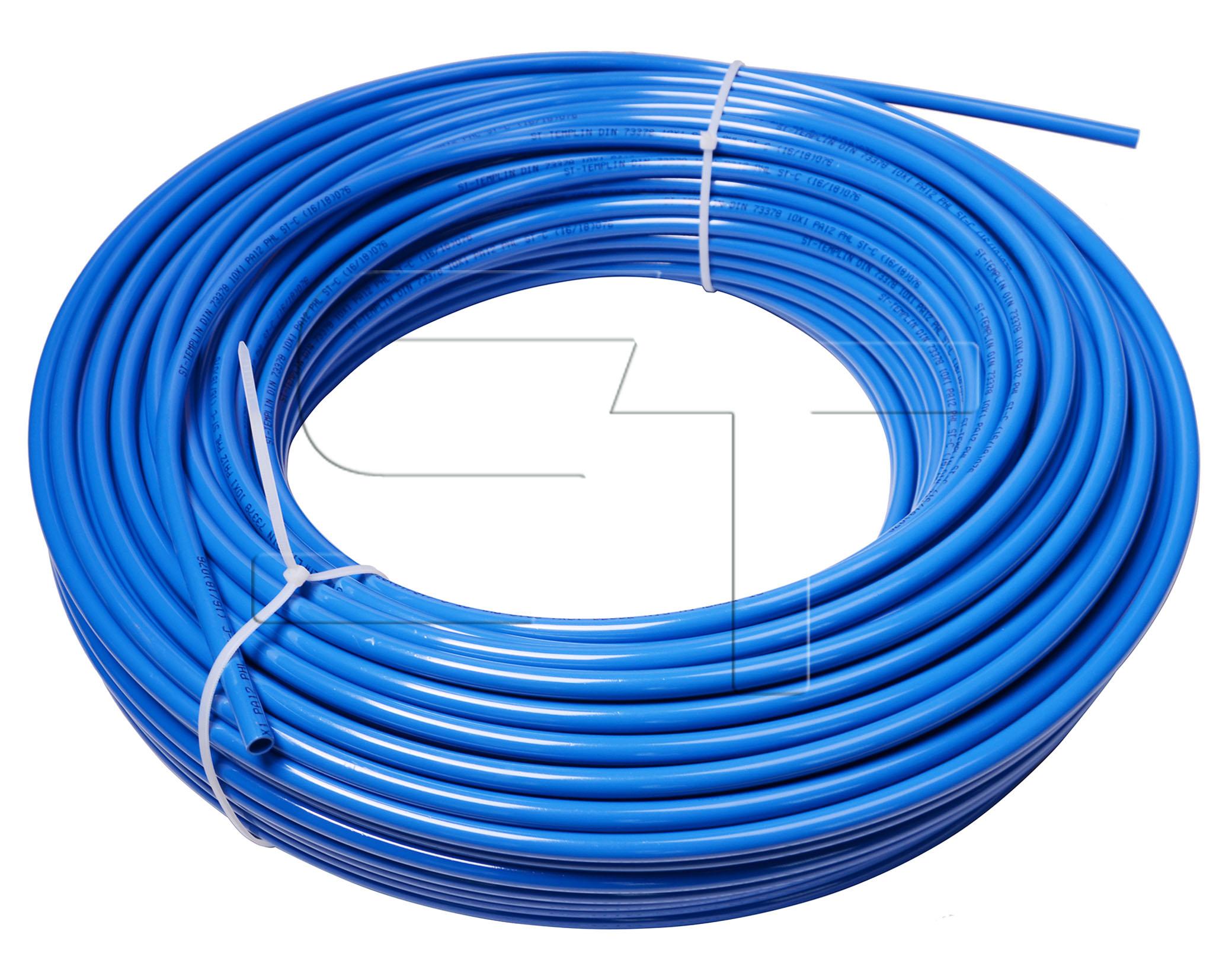 Kunststoffrohr Blau