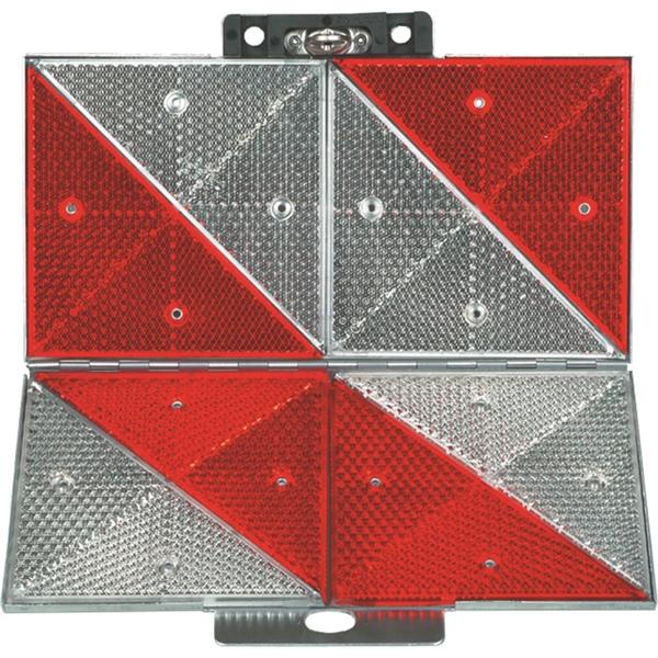 Parkwarntafel rechts klappbar 285x285mm mit Prismenrückstrahler