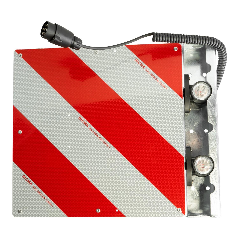 Warntafel für Überbreite hinten rechts 423 x 423mm mit LED-Umrissleuchten