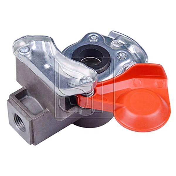 Kupplungskopf rot M16 x 1,5 mit Filter für Anhänger / Sattelauflieger