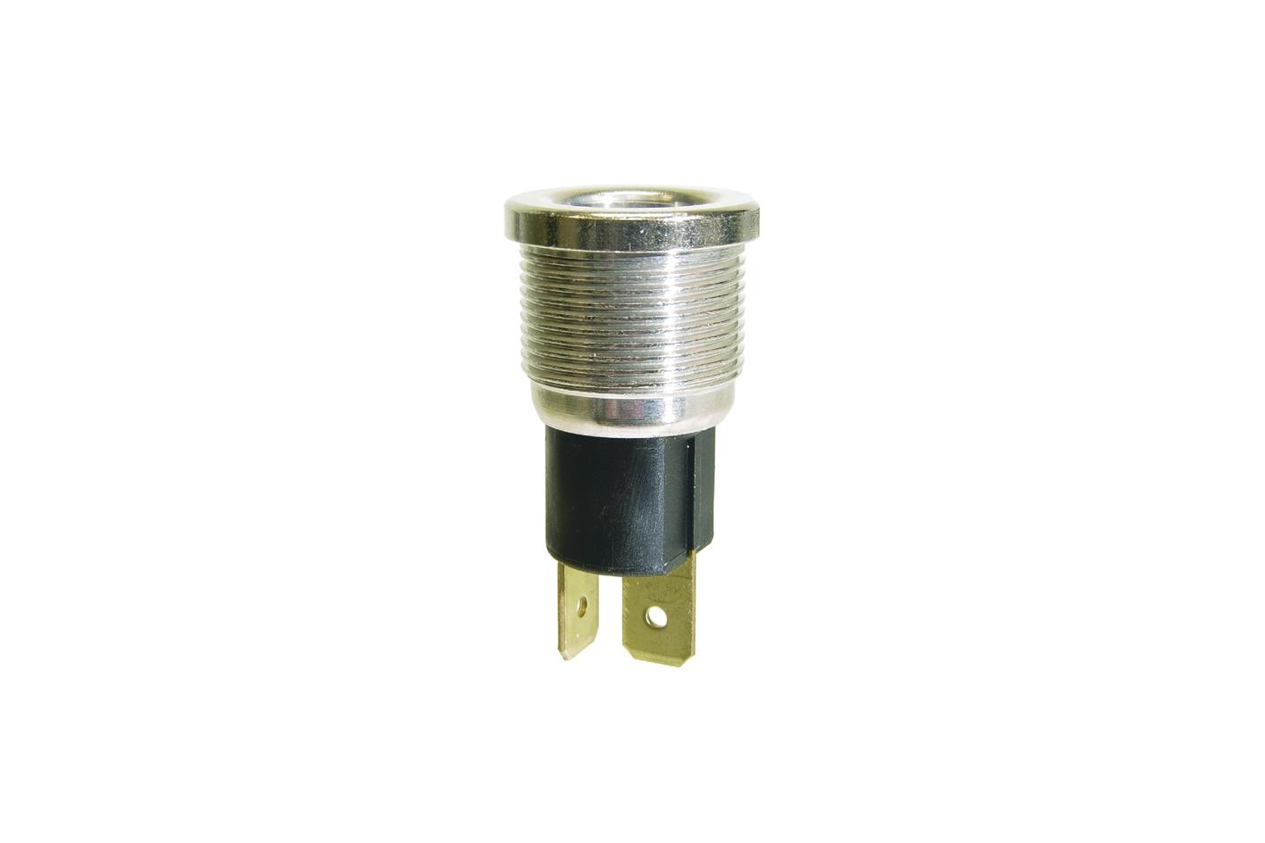 Steckdose 2 polig ohne Deckel M18x1 für Rundumkennleuchte