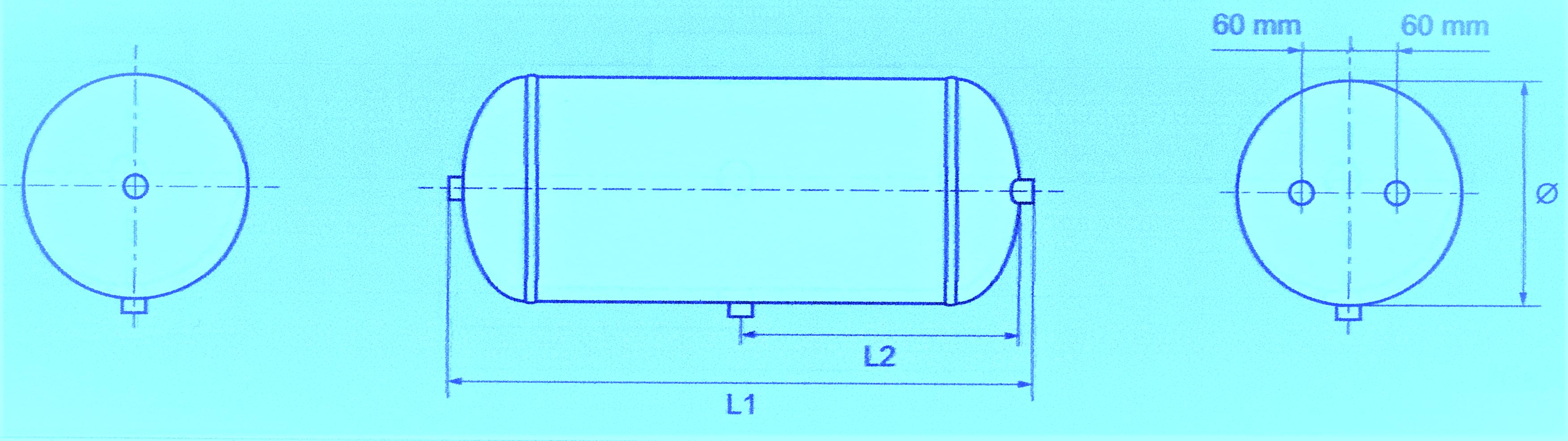 Luftbehälter 60 Liter Ø 246mm