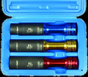 """Radmutterneinsätze 1/2"""" 17, 19, 21 mm 3-teilig mit Drehmomentbegrenzer"""