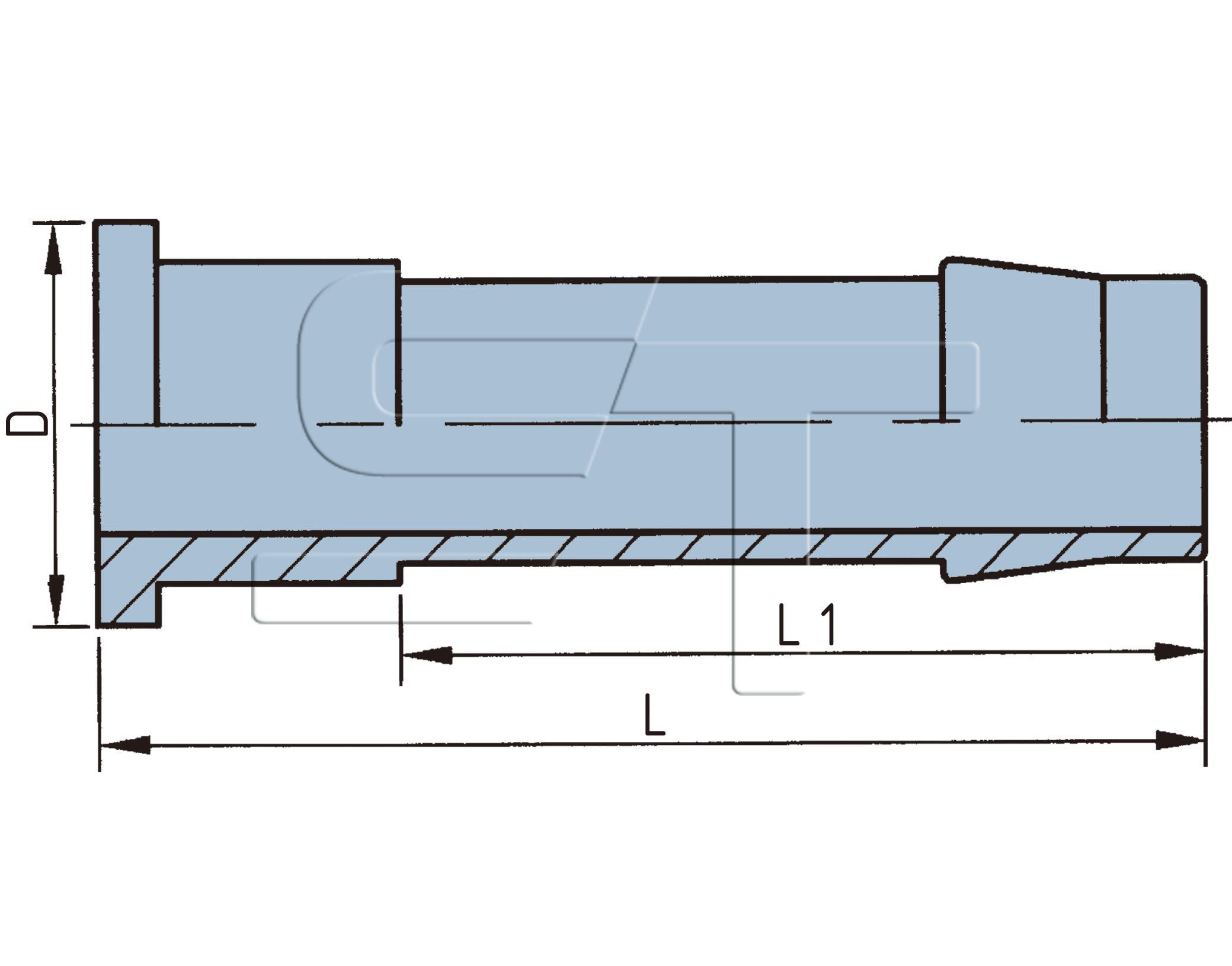 Schlauchstutzen für Bremsschlauch 13 x 6 ohne Überwurfmutter