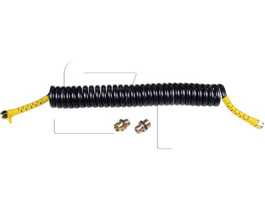 Luftwendel schwarz mit gelben Knickschutz kleiner Durchmesser