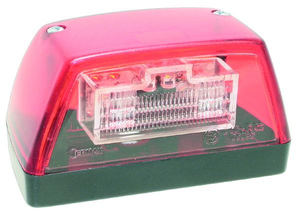 Kennzeichenleuchte rot LED 24V