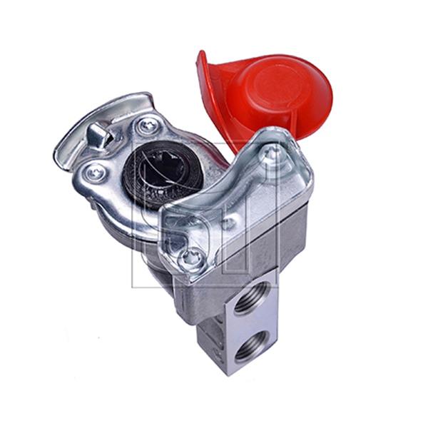 Kupplungskopf rot 2x M16 x 1,5 automatik für Motorwagen / Zugmaschinen