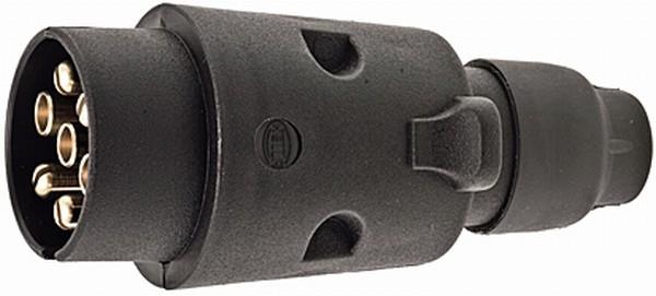 Kunststoff Stecker 12 Volt 7 polig ISO 1724 (N-Typ)