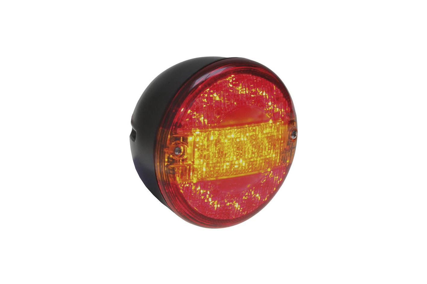 LED Heckleuchte 12 / 24 V rund 140mm Durchmesser mit 30 LED´S