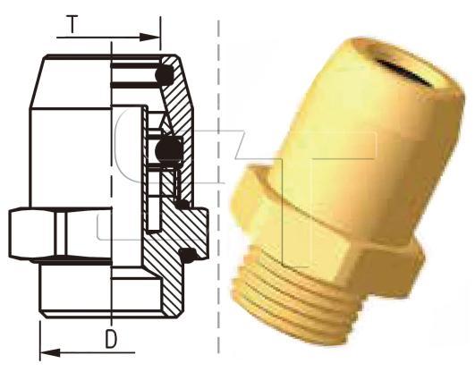 Einschraubverbinder M12x1,5 auf Ø 12x1,5 Kunststoffrohr