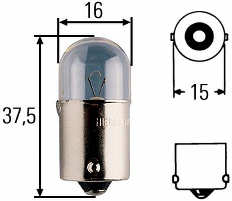 Glühlampe 12 Volt / 10 Watt BA 15s