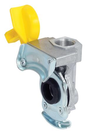Kupplungskopf gelb M16 x 1,5 für Anhänger / Sattelauflieger