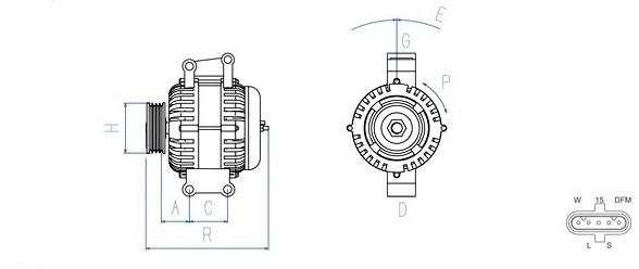 Lichtmaschine 28V / 80A passend für DAF CF85 / XF105