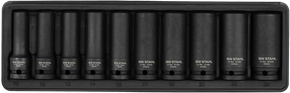 "IMPACT-Steckschlüsseleinsätze 1/2"" 10-24 mm tief  10-teilig"