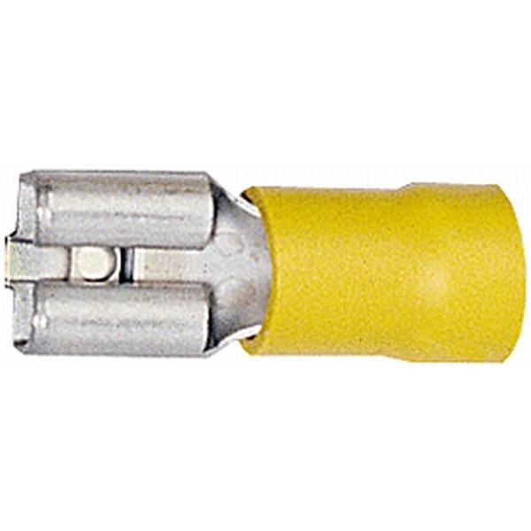 Flachsteckhülsen gelb VPE 50 Stück