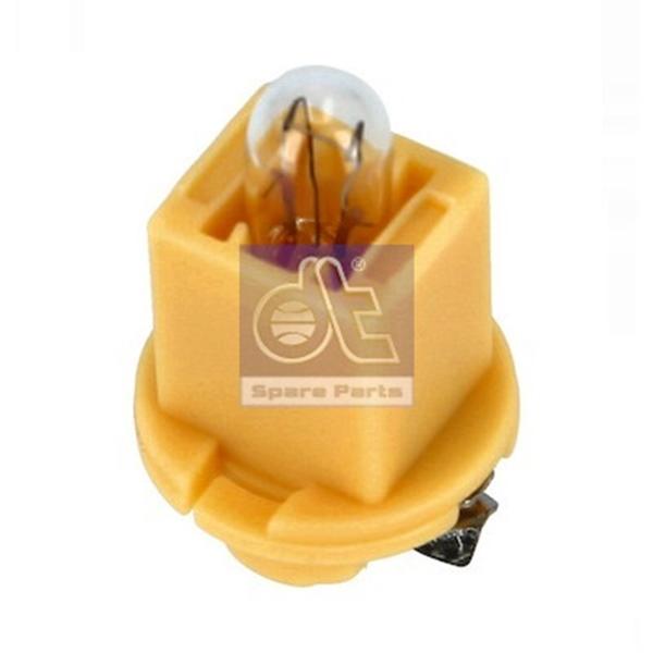 Kunststoffsockellampe gelber Sockel 24V / 1,2W