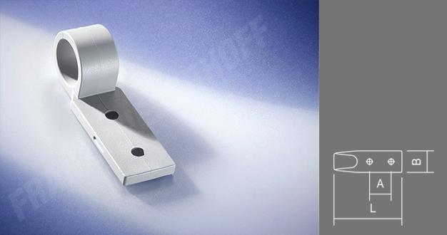 Zweiloch-Planenhaken Kunststoff grau VPE 100 Stück