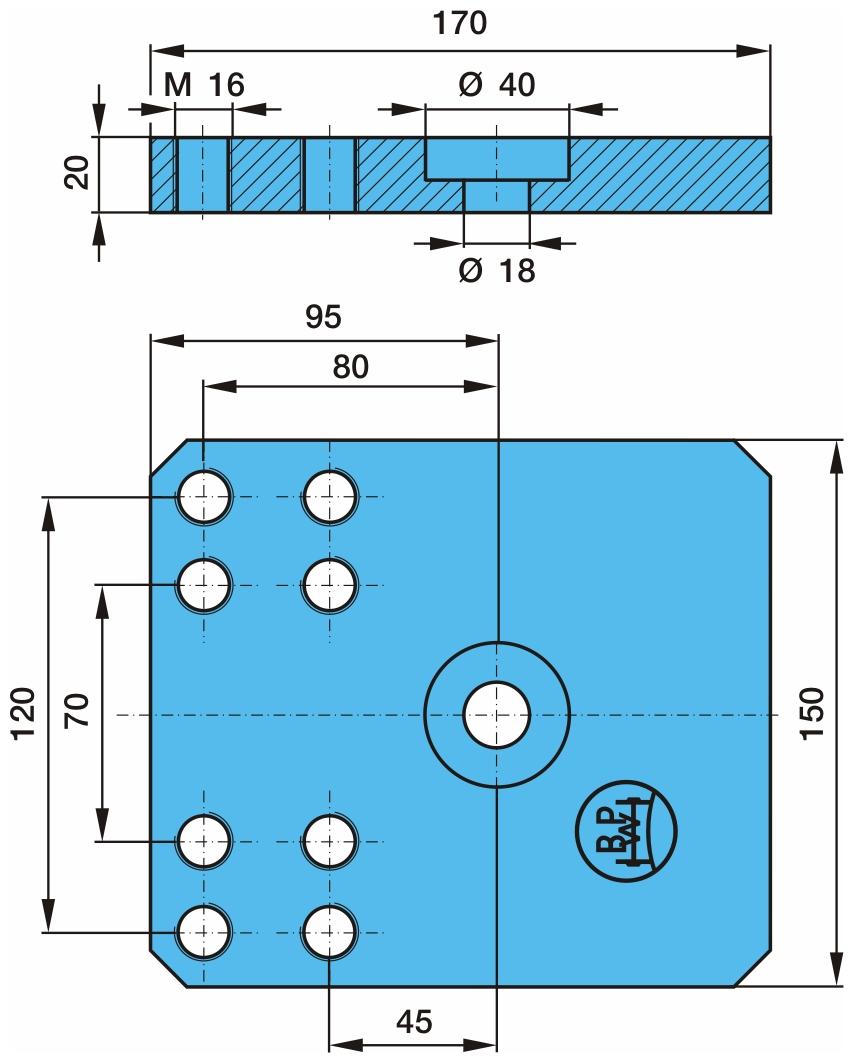 Bodenplatte passend für BPW 36