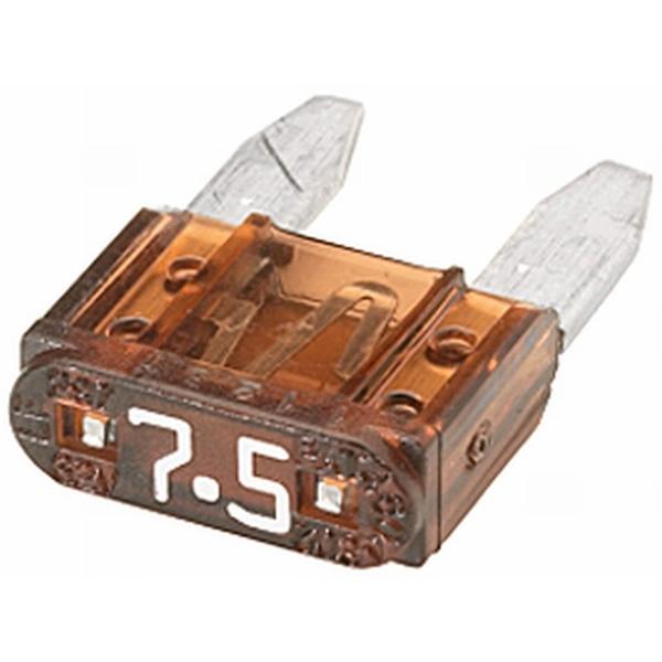 MINI-Flachstecksicherung 7,5 Ampere braun