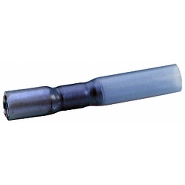 Rundsteckhülsen vollisoliert blau mit Schrumpfisolierung VPE 25 Stück