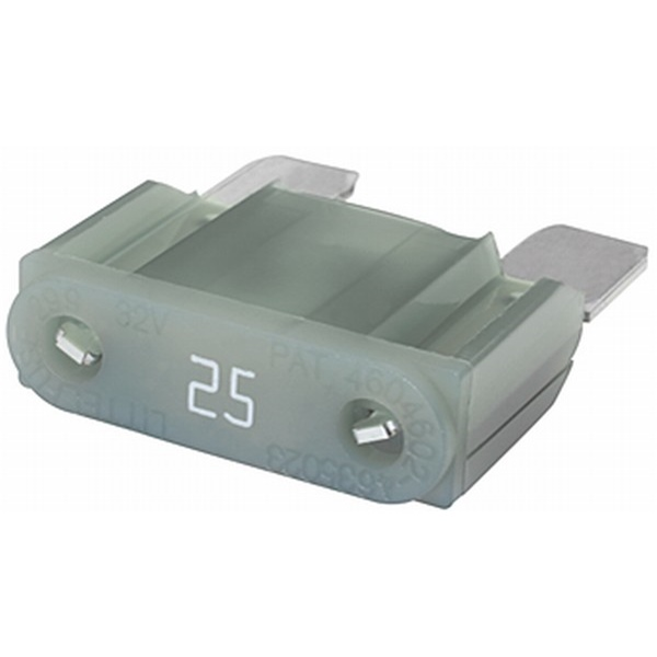 MAXI Flachstecksicherung 25 Ampere grau