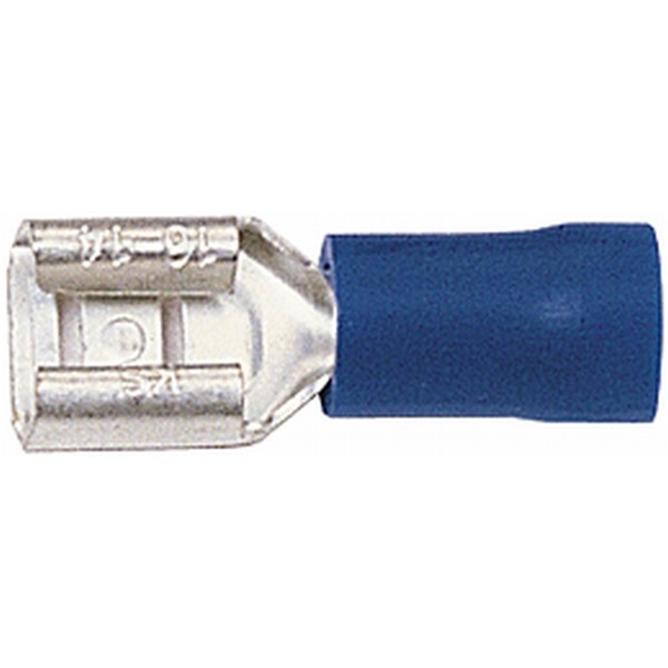 Flachsteckhülsen blau VPE 100 Stück