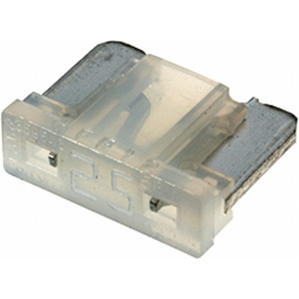 Low-Profile Mini-Flachstecksicherung 25 Ampere weiß