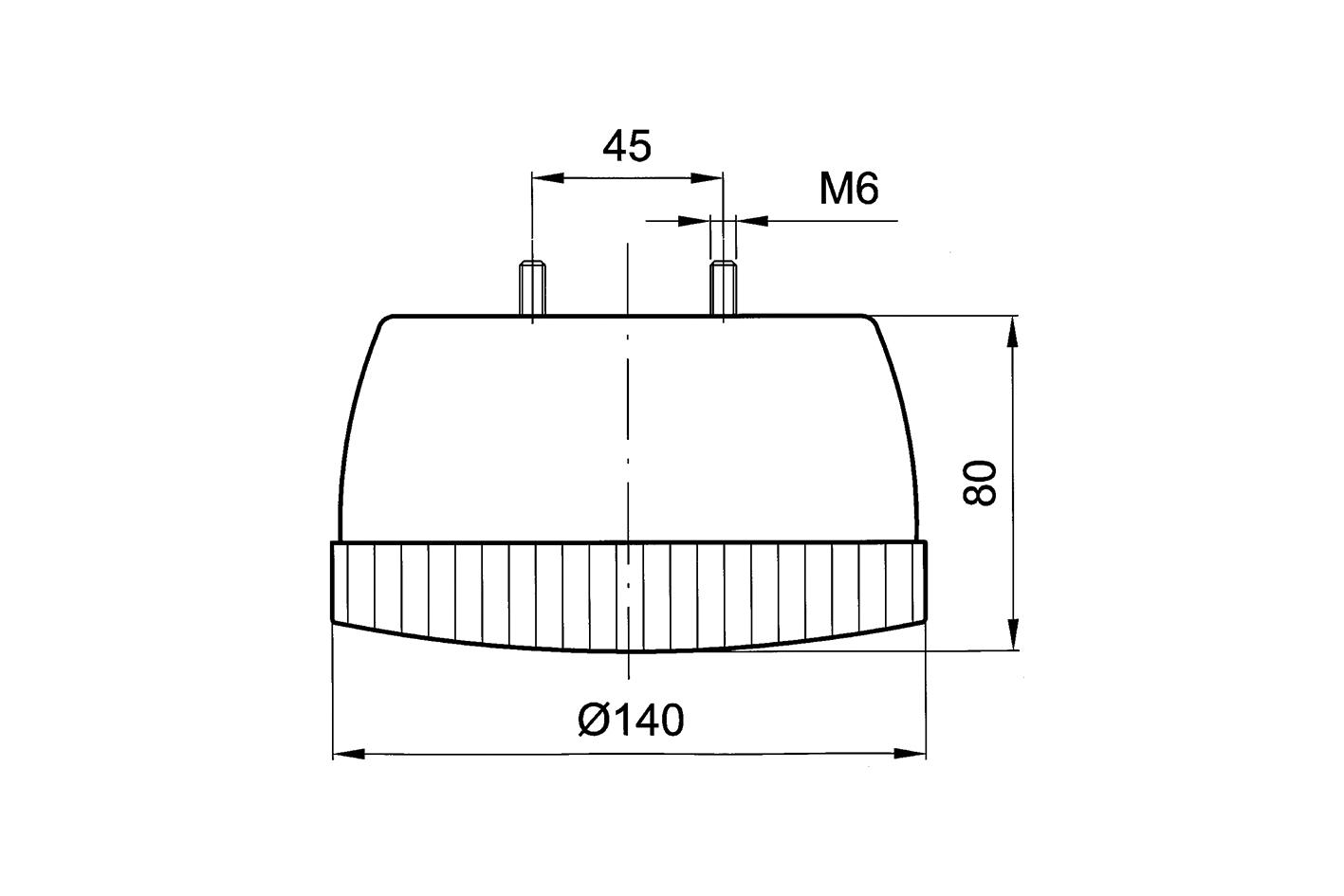 Lichtscheibe rund 140mm Durchmesser für 8212352 und 356