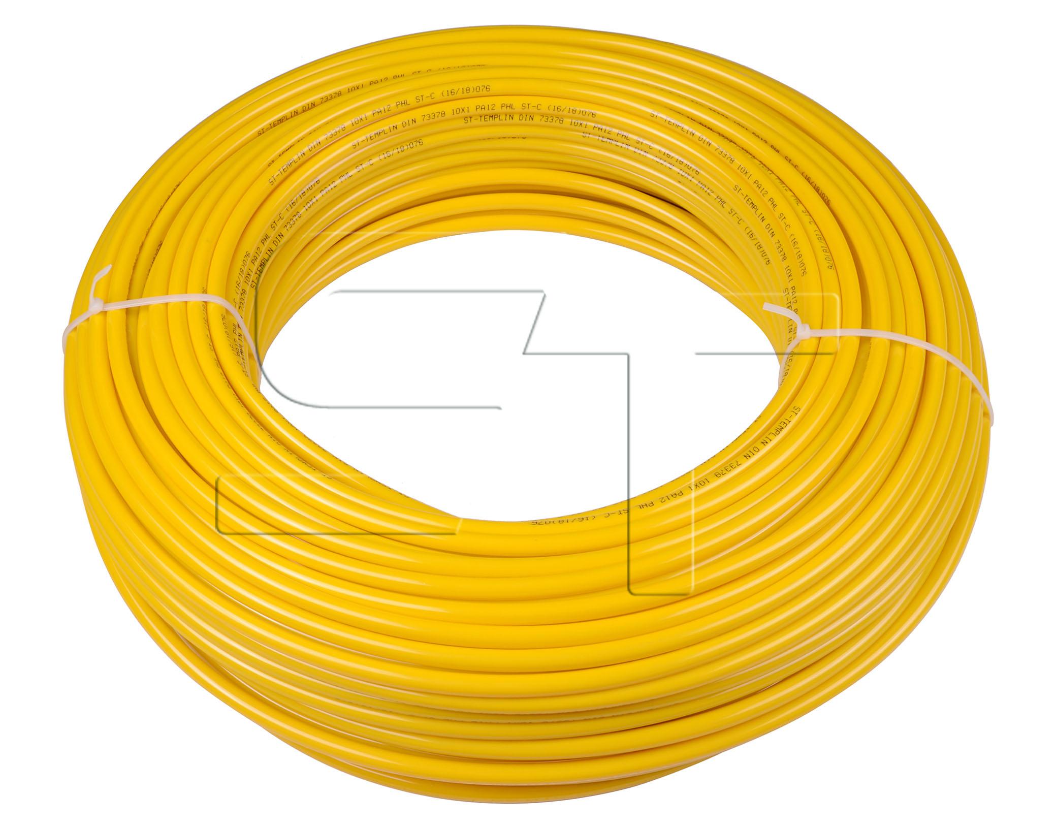 Kunststoffrohr Gelb