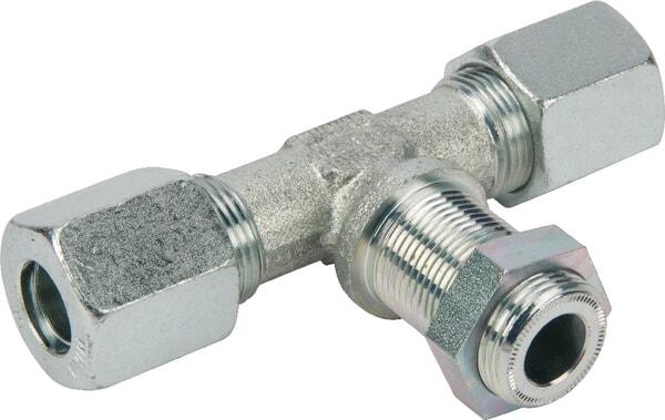 T- Verschraubung für 8 mm Rohr, mittig M12x1,5 einschraubbar