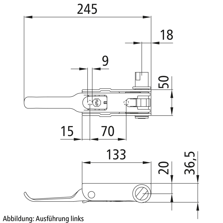 Planen-Spannratsche PWP mit Rundschlitz Antrieb